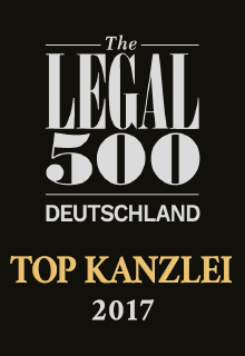 The Legal 500 Deutschland | TOP KANZLEI 2017