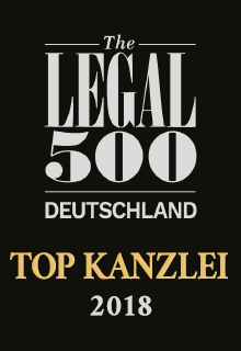 The Legal 500 Deutschland | TOP KANZLEI 2018