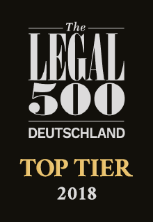 The Legal 500 Deutschland | TOP TIER 2018