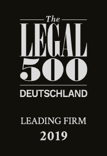 The Legal 500 Deutschland | Leading Firm 2019